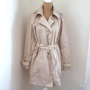 N.W.D Beige Lightweight Trench Coat Sz XL